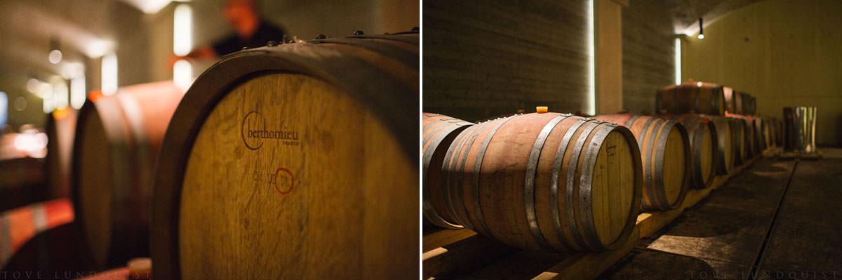 Tunnor med vin på Manousakis Winery, Chania - Kreta. Foto: Tove Lundquist, fotograf Malmö.