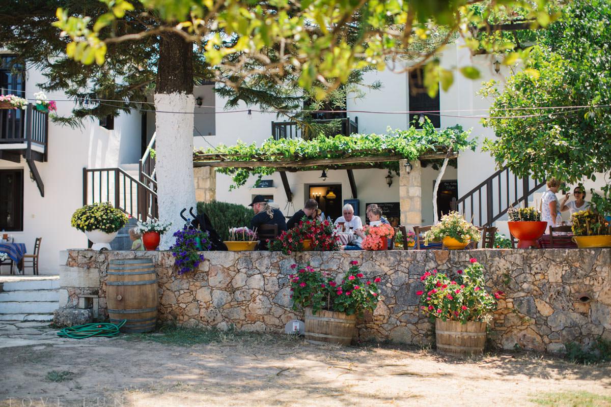 Vinprovning på Manousakis Winery som ligger utanför Chania, Kreta. Fotograf är Tove Lundquist.