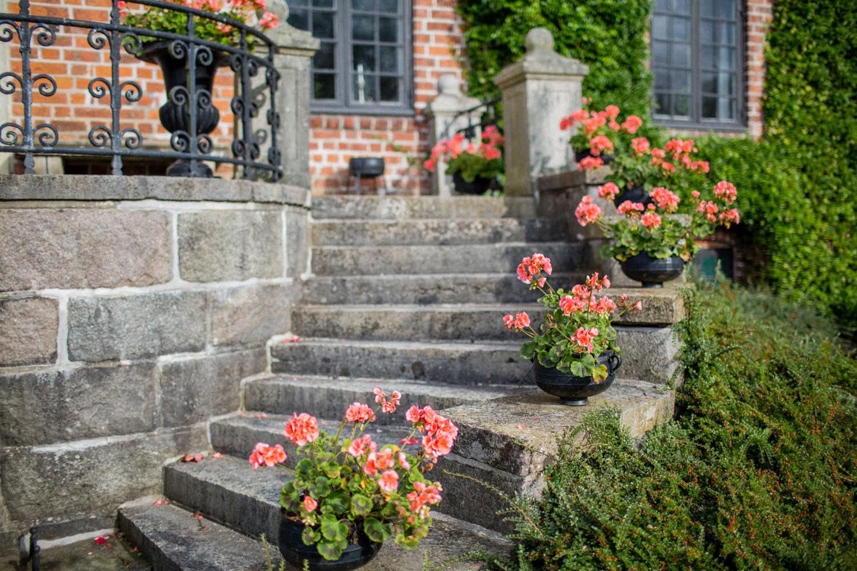 Detaljer utomhus på Trolleholms slott, Skåne.