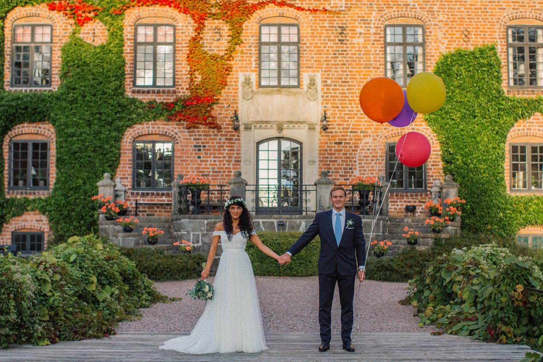 Helium ballonger under bröllop.