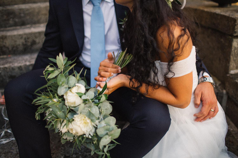 Foto på detaljer från ett bröllop på Trolleholms slott.