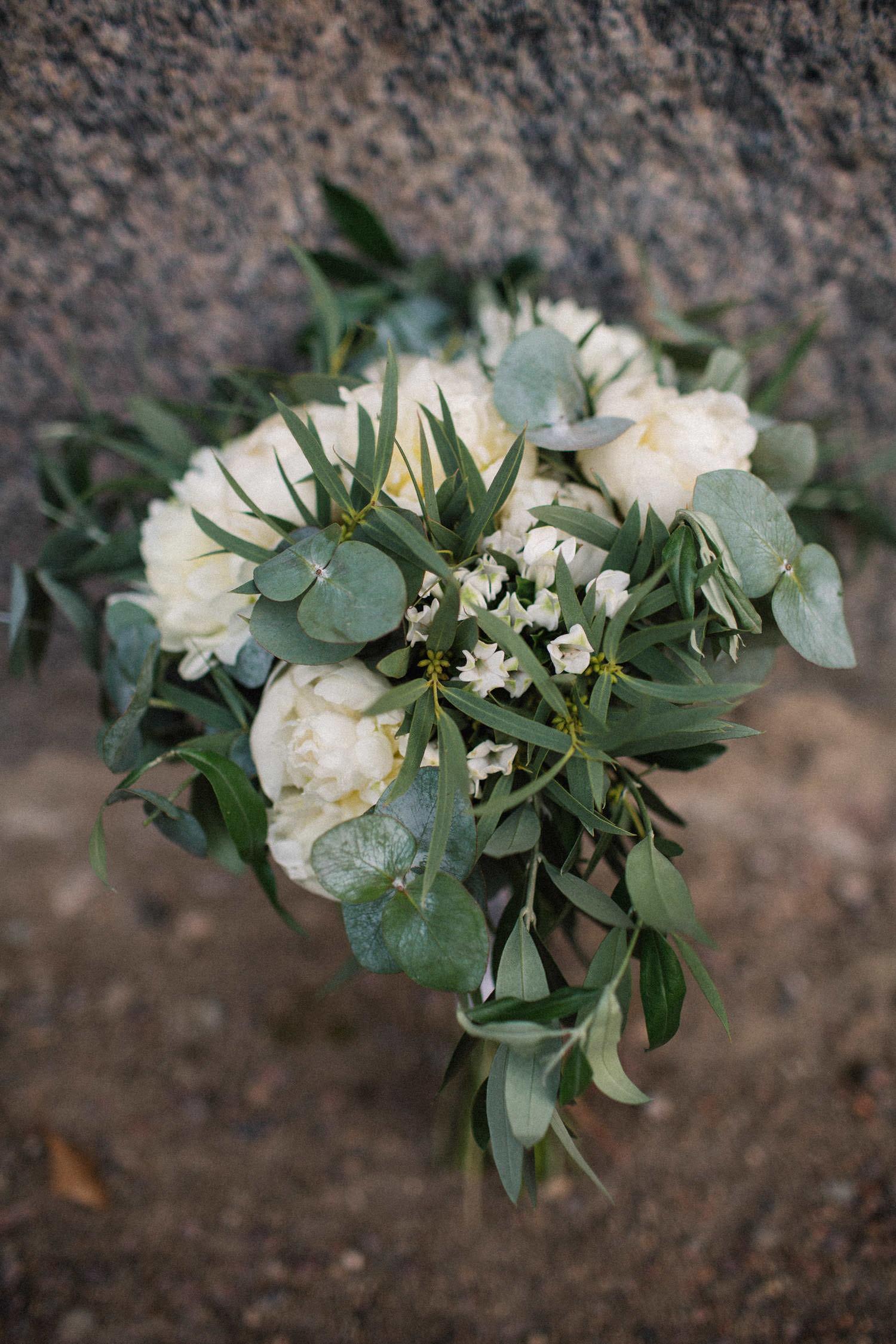 Brudbukett från Lilla Hults Blommor.