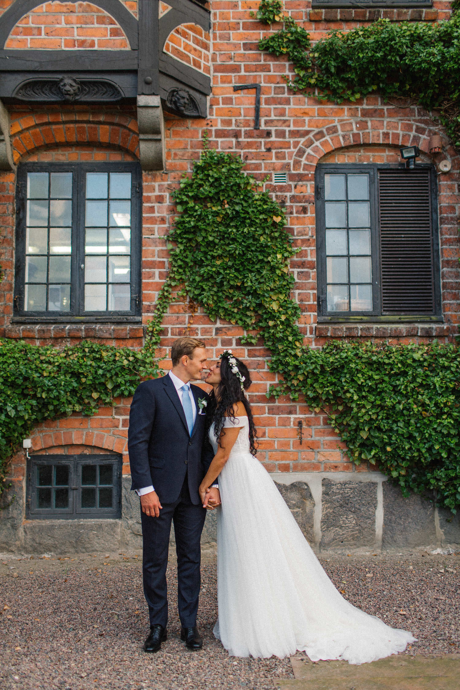 Foto från ett bröllop på Trolleholms slott i Skåne.