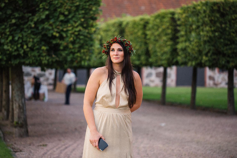 Brudtärna under ett bröllop på Trolleholms slott.