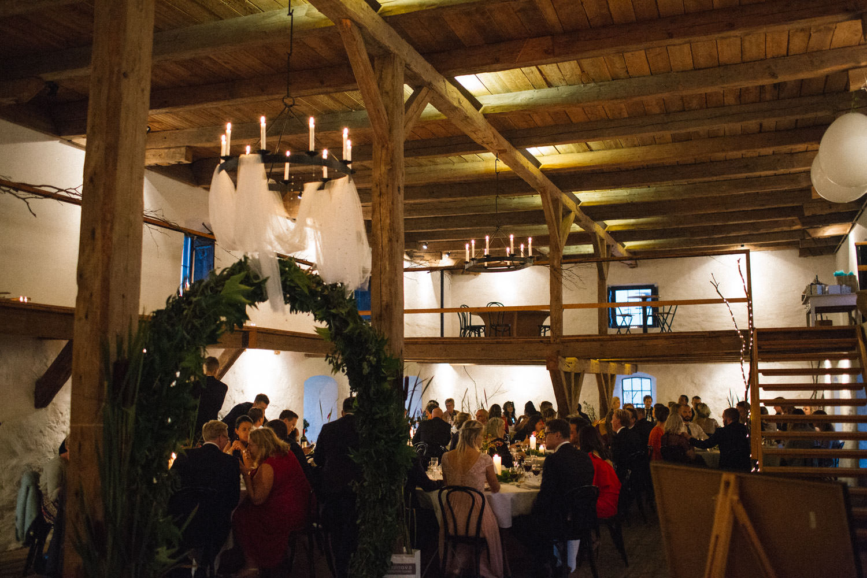 Foto från en bröllopsfest på Trolleholms slott, Skåne.
