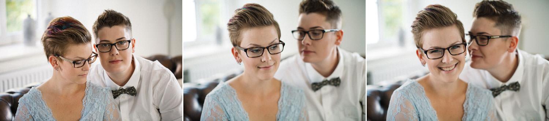 Brudporträtt, klänning kommer från SensibleM, miljövänlig fluga från Metzerverket. Foto: Tove Lundquist, bröllopsfotograf Skåne.