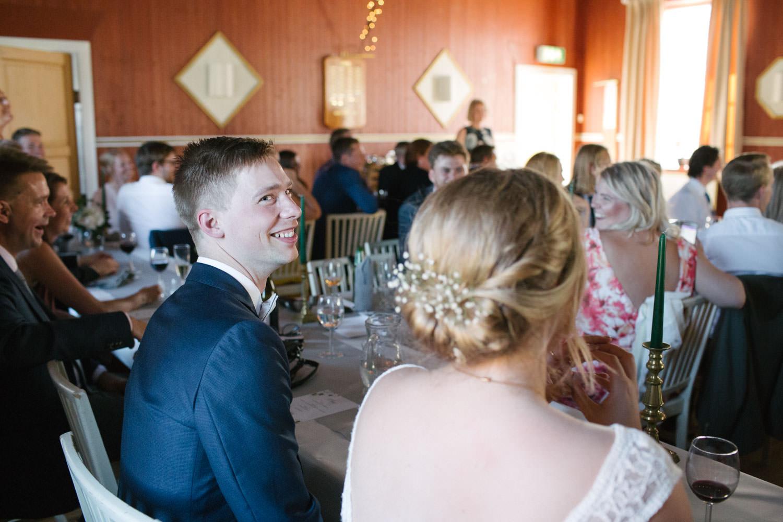 Tal under ett bröllop på Torpalängan, Smygehamn.