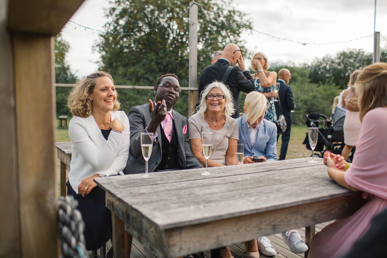 Bröllopsfest på Kaffetorpet Oknö utanför Mönserås.