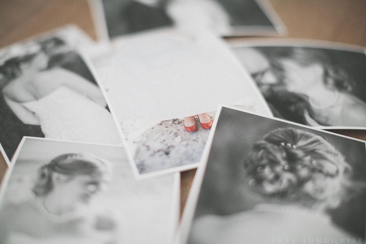 Fotograf Tove Lundquist, bröllopsfotograf Malmö, erbjuder Fine Art printar i hög kvalitet. Prints and handmade box from Fineprint Studio and QT.