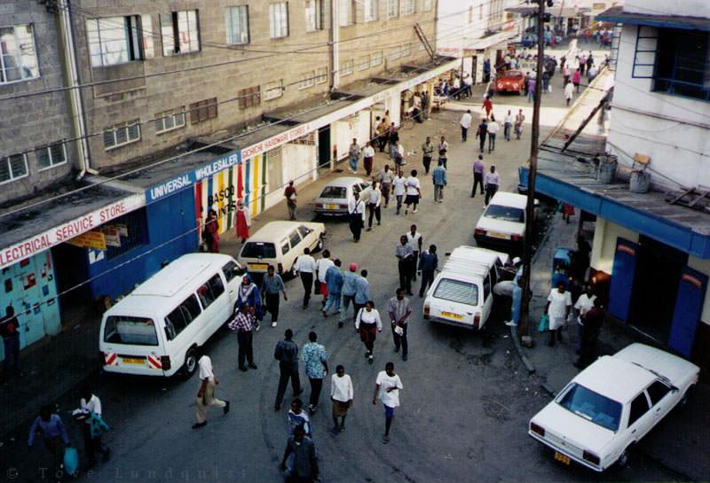 View from Dolat Hotel, Nairobi. fotograf Tove Lundquist, Nairobi, Kenya, Africa