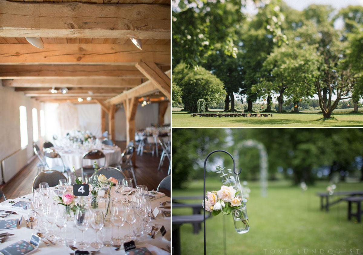 Utomhusvigsel samt bröllopsfest på bröllopslokal Marsvinsholms slott, Ystad. Foto: Tove Lundquist, bröllopsfotograf Skåne län.