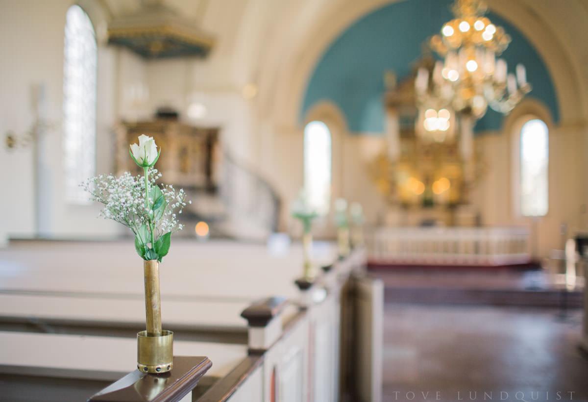 Västra Klagstorps kyrka, Malmö. Foto: Tove Lundquist, bröllopsfotograf Skåne.