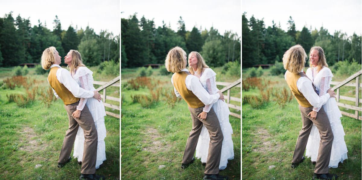Triptyk från en stylad bröllopsfotografering, beloved stjäla kyssar. Foto: Tove Lundquist.