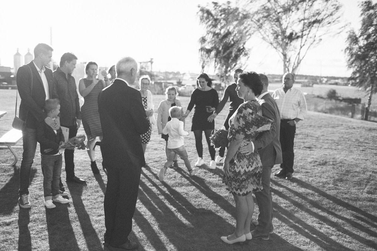 Borgerligt utomhusbröllop på Hotell Corallen.