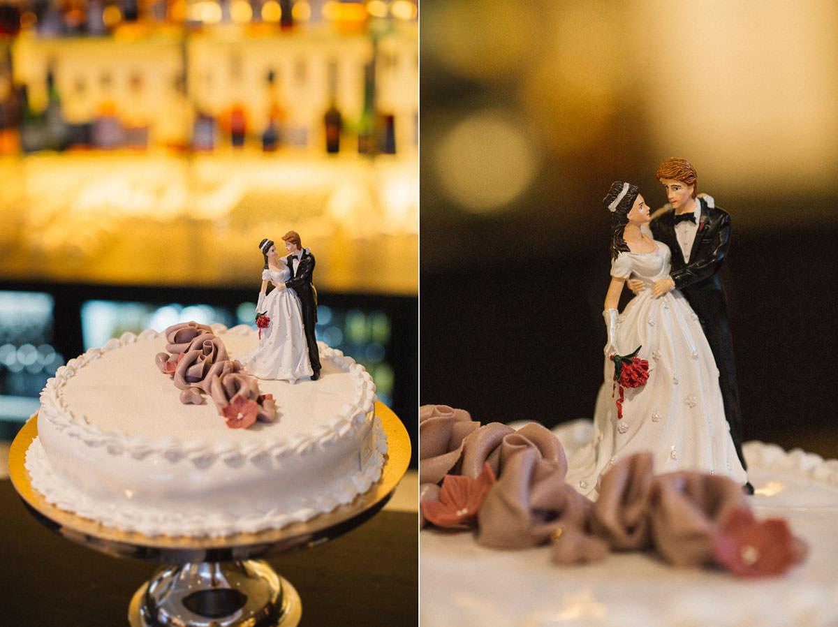 Diptyk med bilder från en bröllopstårta av Nilssons Konditori.