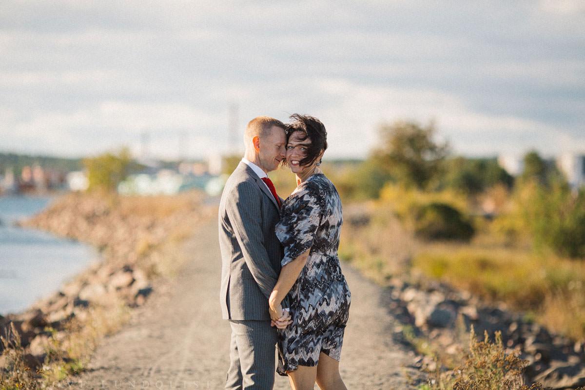 Bröllopsporträtt vid Ernemar Småbåtshamn, Oskarshamn.
