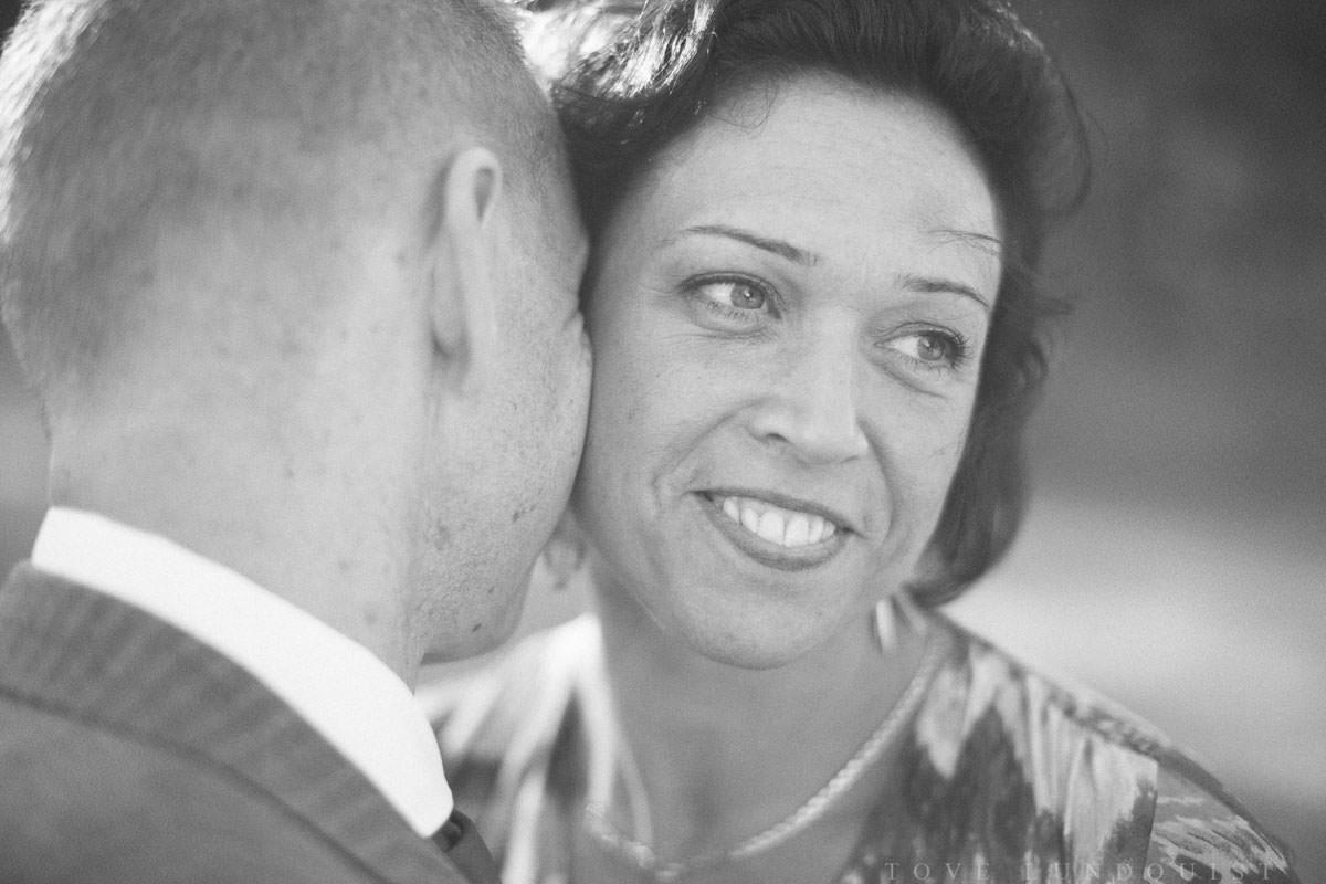 Svartvit bröllopsporträtt på brud.