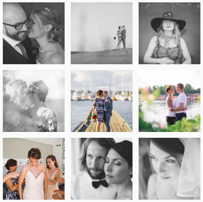 Bröllopsfotograf Tove Lundquist finns numera även på Instagram: https://www.instagram.com/tovelundquist.
