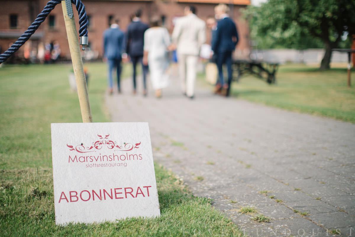 Bröllop på Marsvinsholms slott. Foto: Tove Lundquist, verksam bröllopsfotograf Ystad.