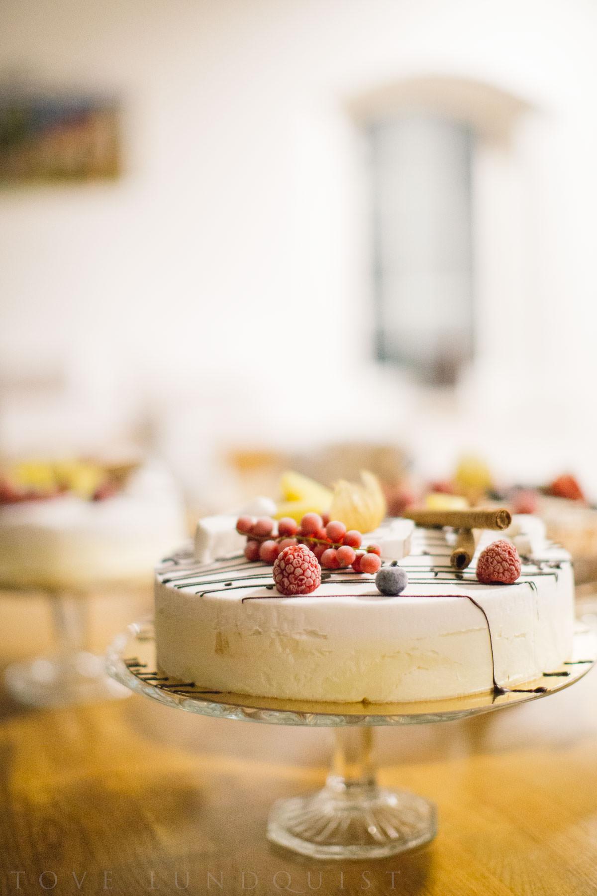 Glasstårta till bröllop från Dolce Sicilia, Malmö. Foto: Tove Lundquist.