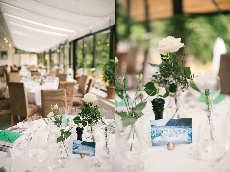 Bröllopsdukning på bröllopslokal Sofiero Slott, Skåne. Foto: bröllopsfotograf Skåne Tove Lundquist.